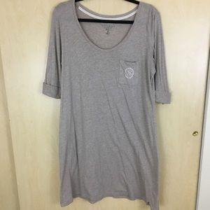 Victoria Secret Tan Monogram Pocket Sleep Shirt L